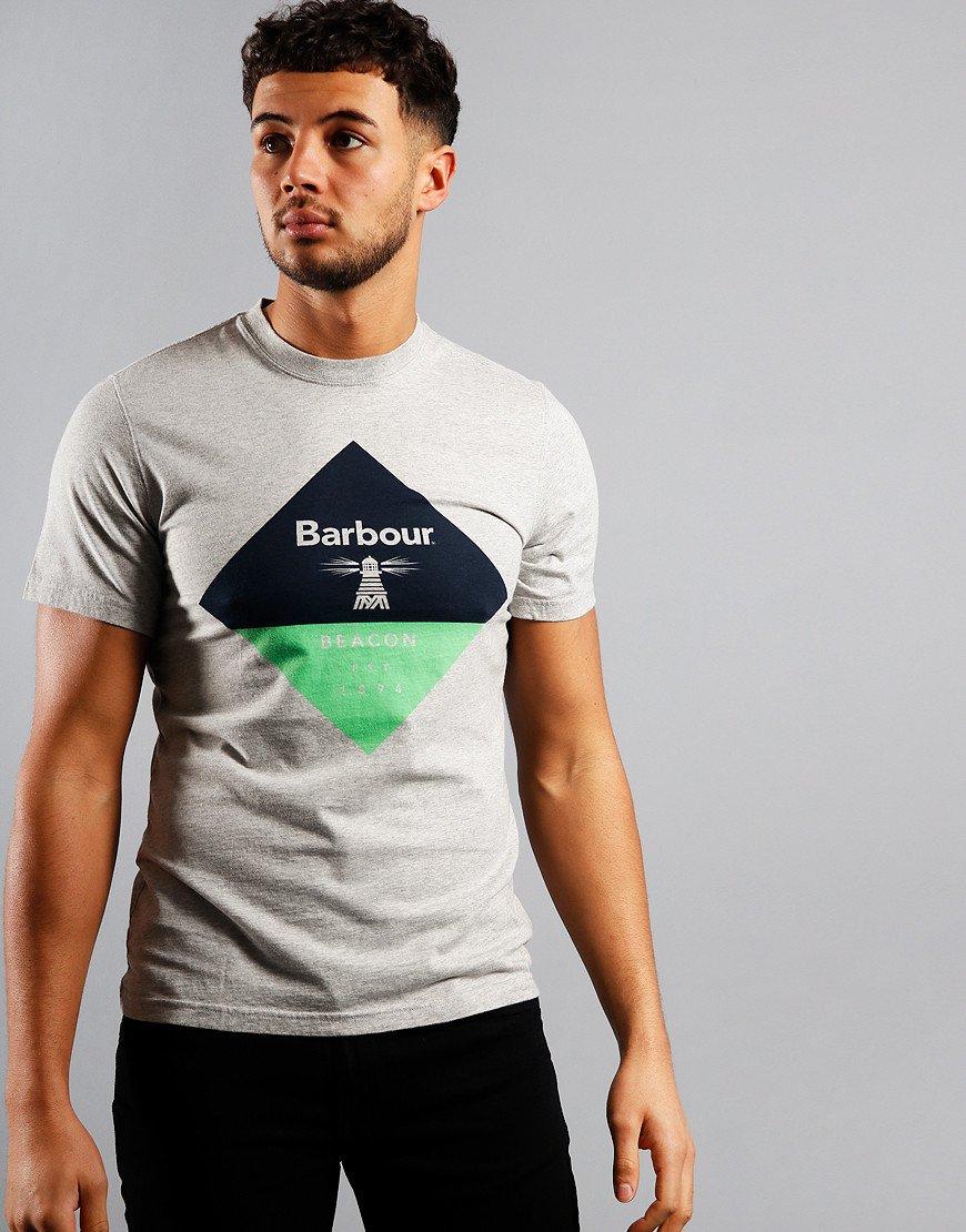 Barbour Beacon Diamond T-Shirt Grey Marl