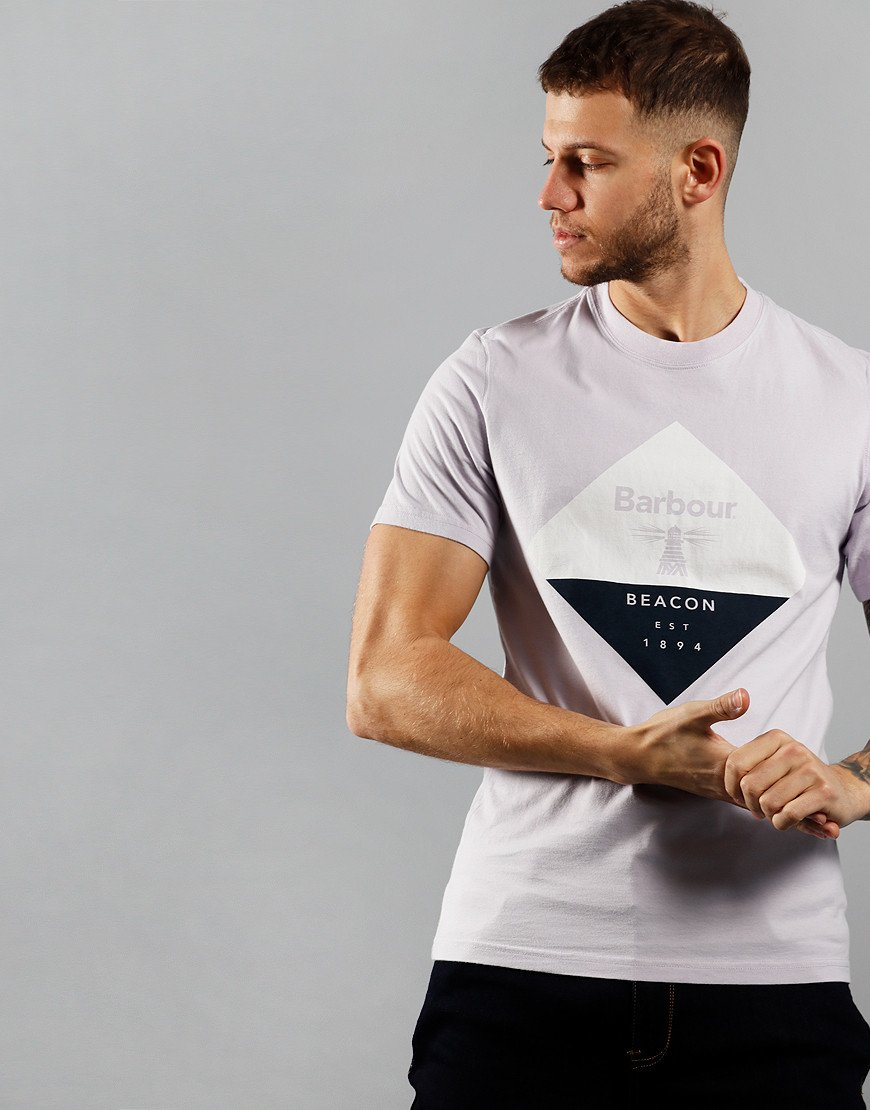 Barbour Beacon Diamond T-Shirt Thistle