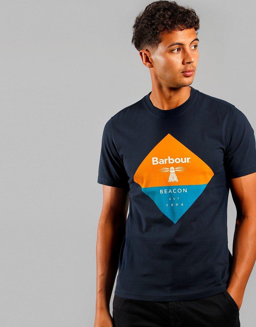 Barbour Beacon Diamond T-Shirt New Navy