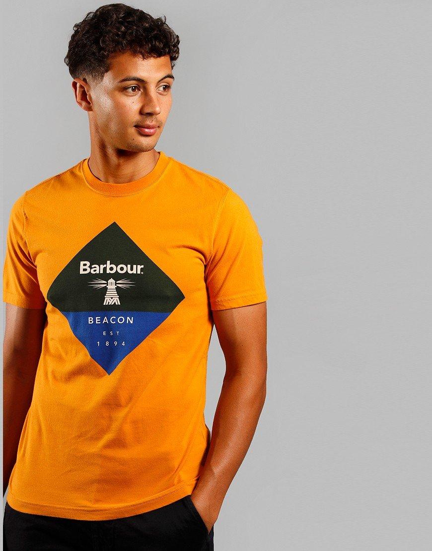 Barbour Beacon Diamond T-Shirt Golden Oak