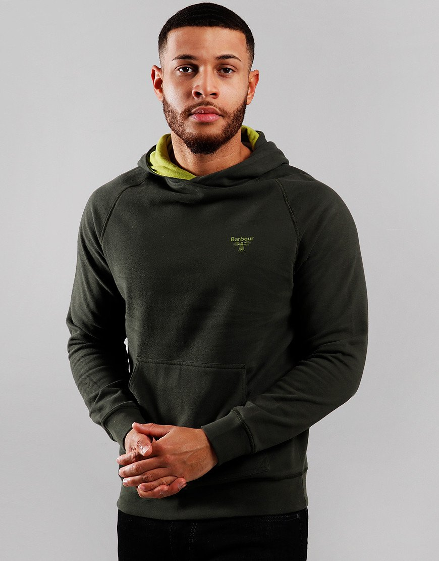Barbour Beacon Edale Hooded Sweat Forest