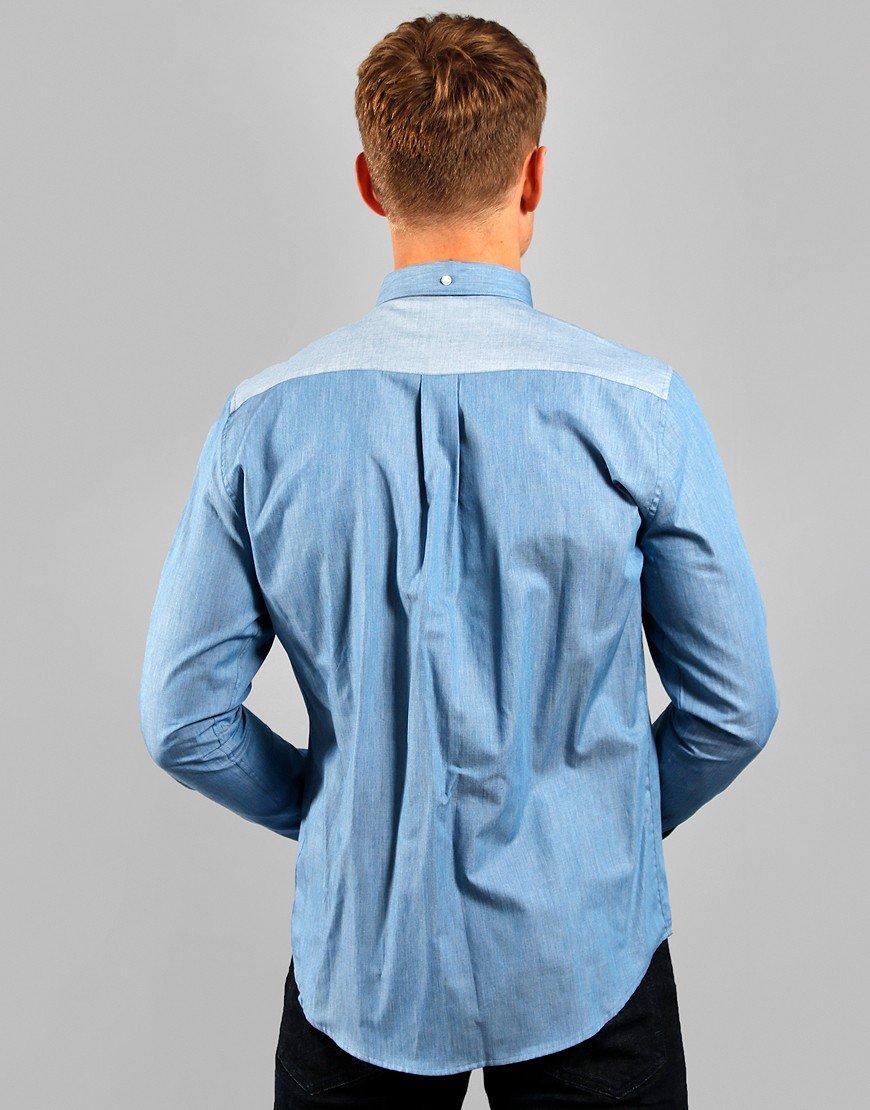 Barbour Beacon Eldale Shirt Mid Blue