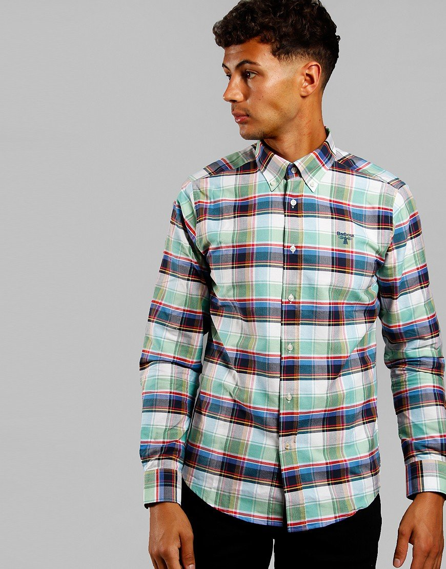 Barbour Beacon Farnham Shirt Summer Green