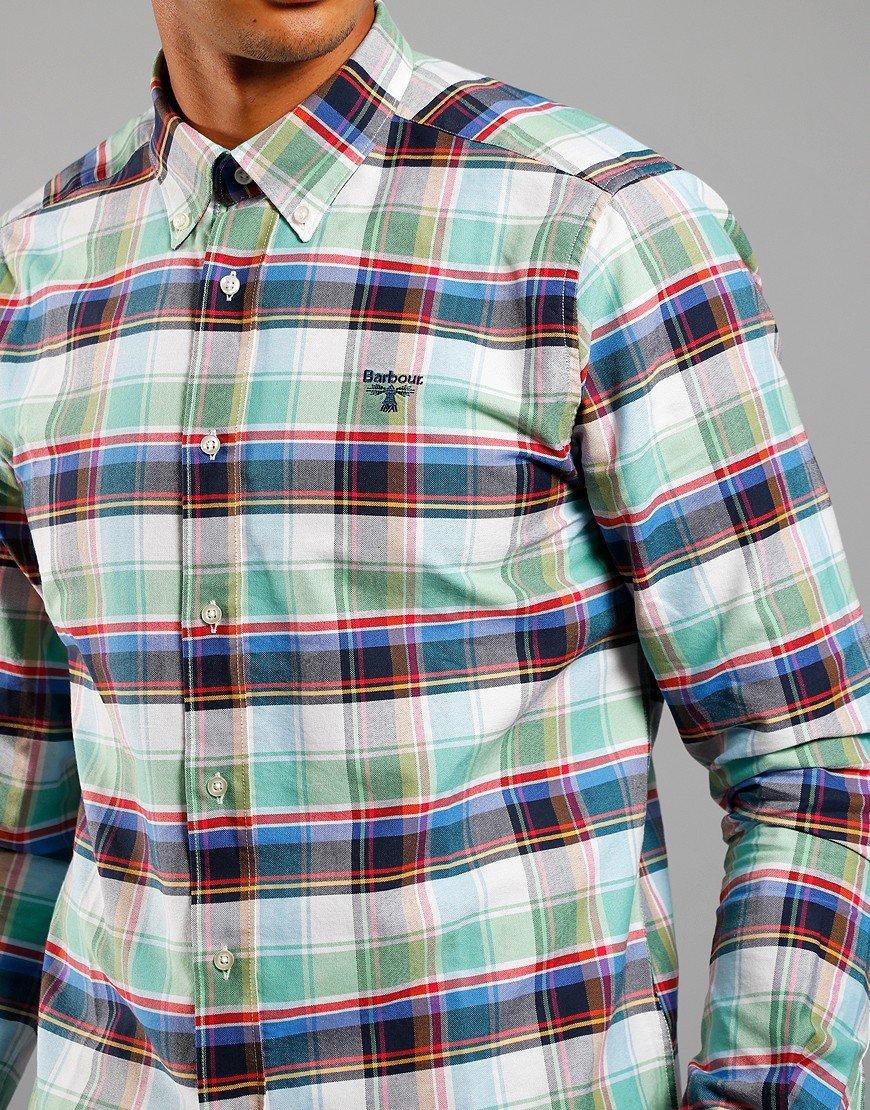 Barbour Beacon Farnham Shirt Summer Green