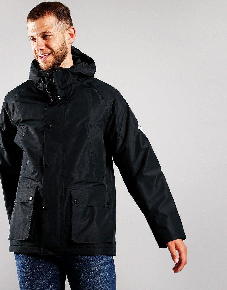 Barbour Beacon Hooded Bedale Jacket Black