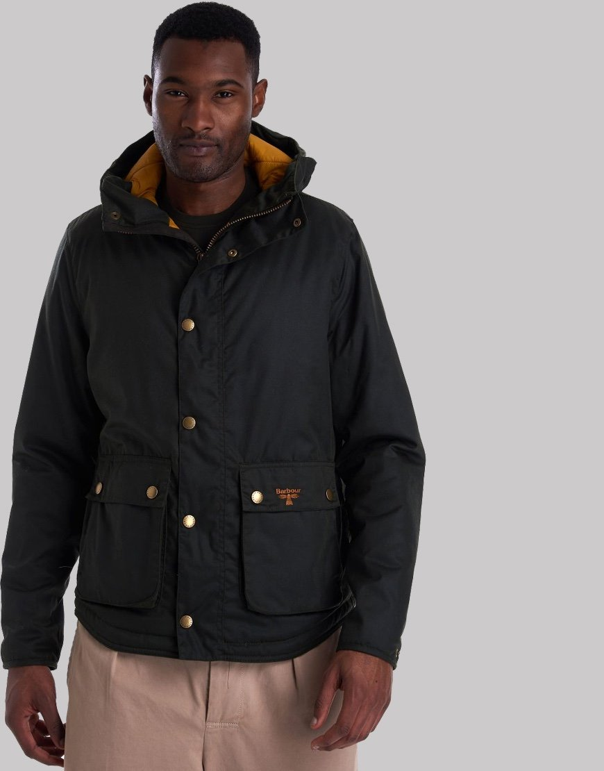 Barbour Beacon Hooded Reelin Jacket Sage