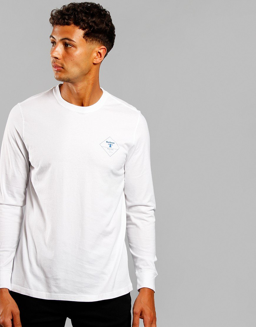 Barbour Beacon Long Sleeve Hill T-Shirt White