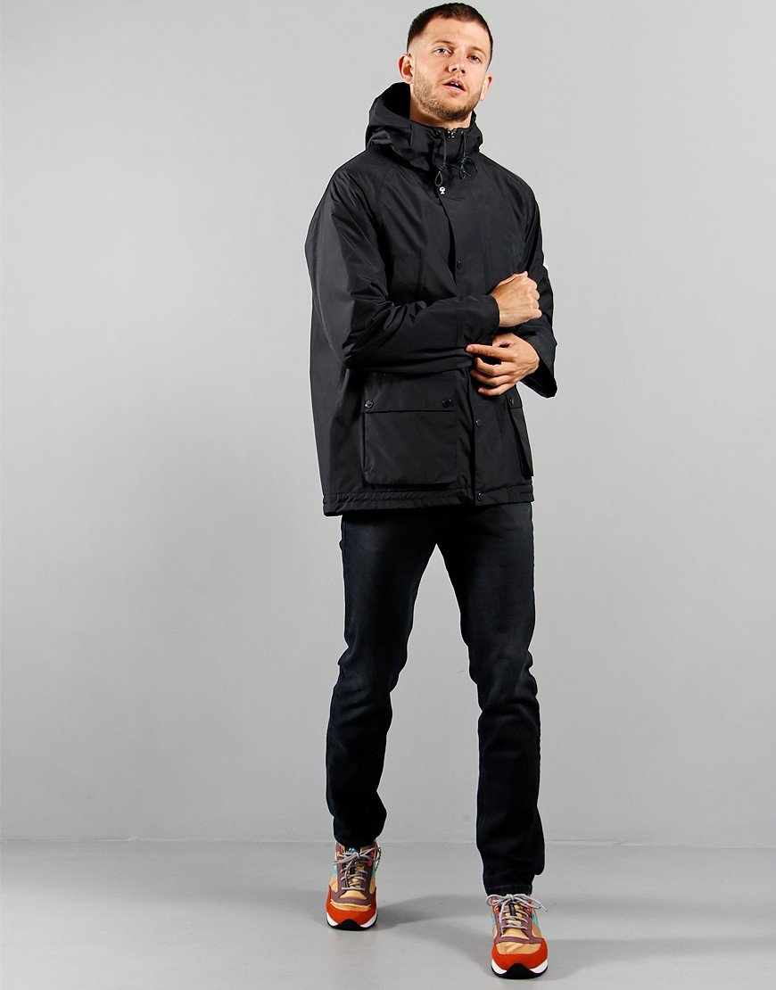 Barbour Beacon Hooded Bedale Jacket  Navy