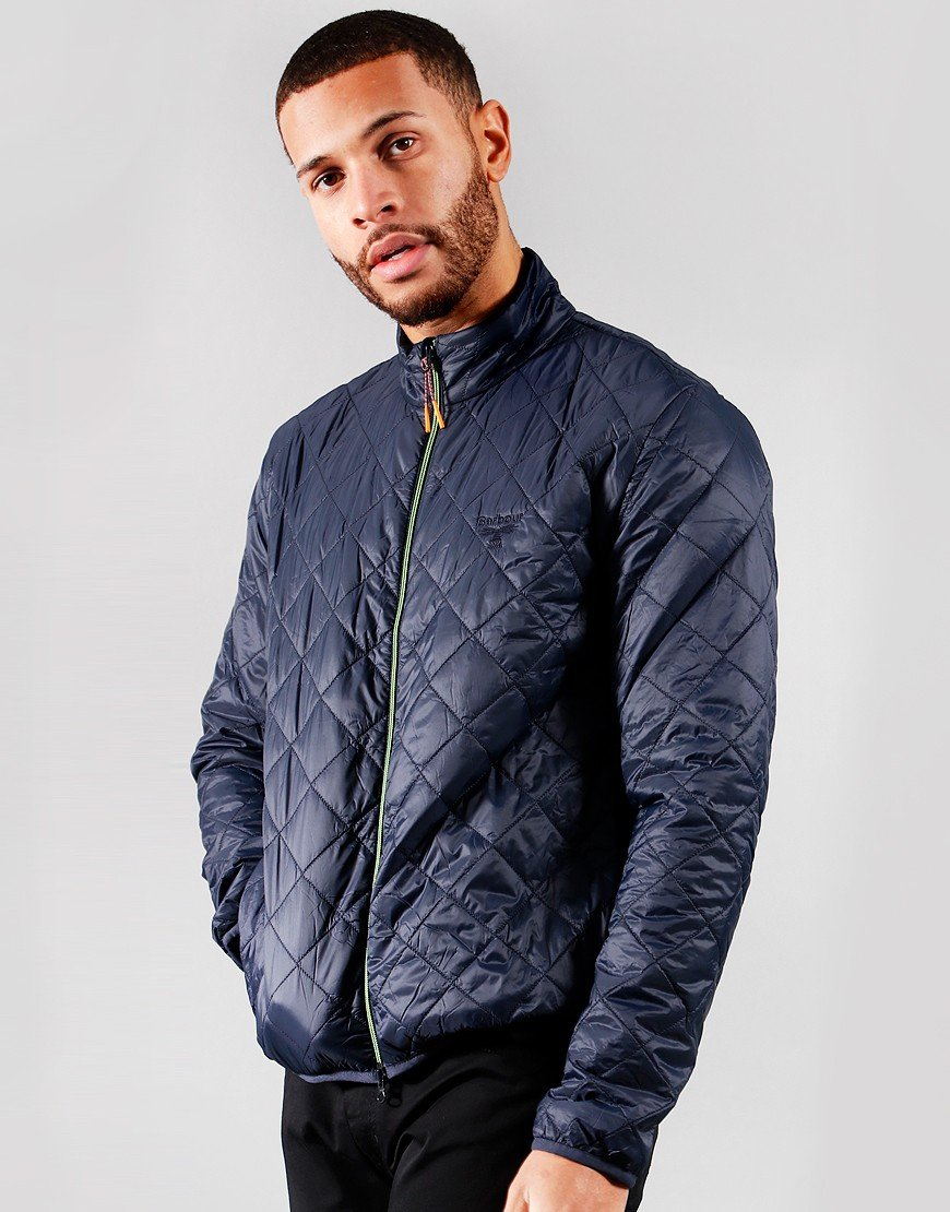 Barbour Beacon Karl Box Quilt Jacket Navy