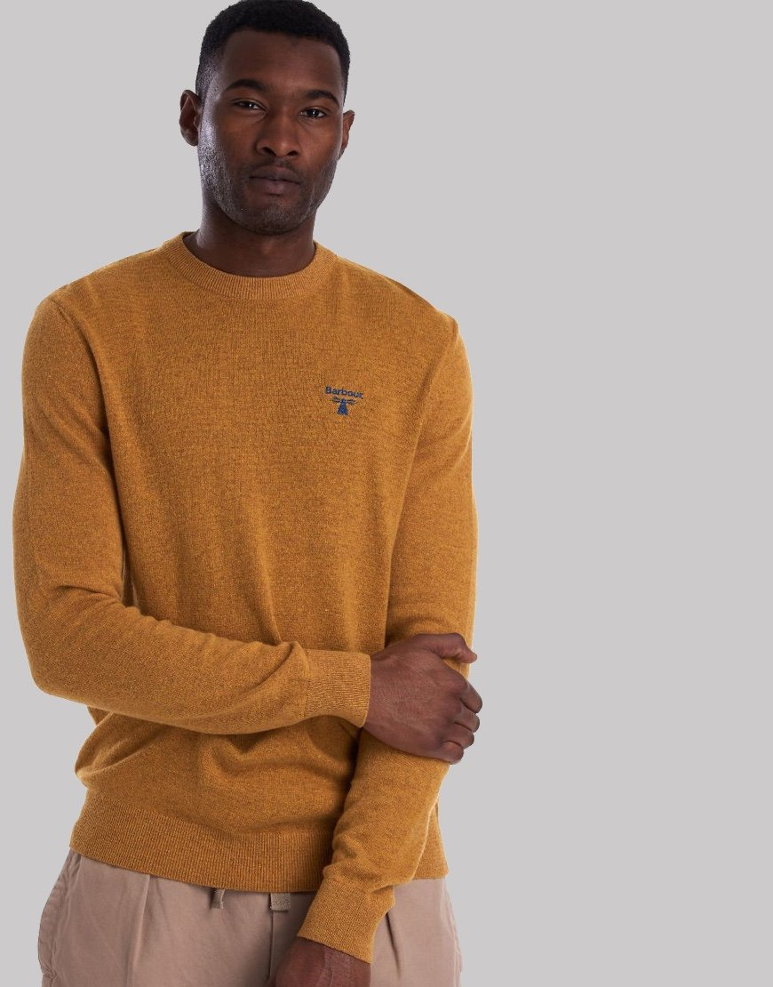 Barbour Beacon Logo Crew Knit Golden