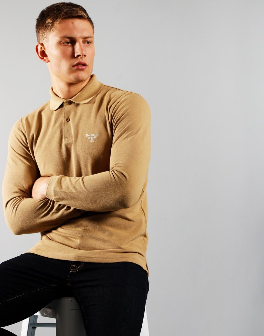 Barbour Beacon Long Sleeved Polo Shirt Kelp