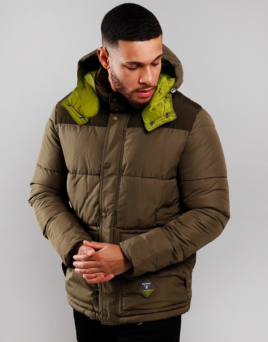Barbour Beacon Mill Padded Jacket Army Green