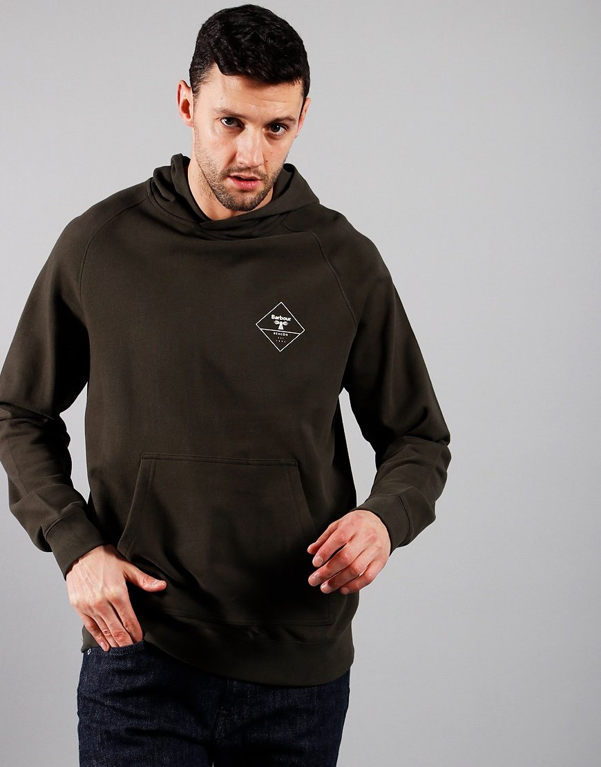 Barbour Beacon Netherly Hooded Sweatshirt Forest