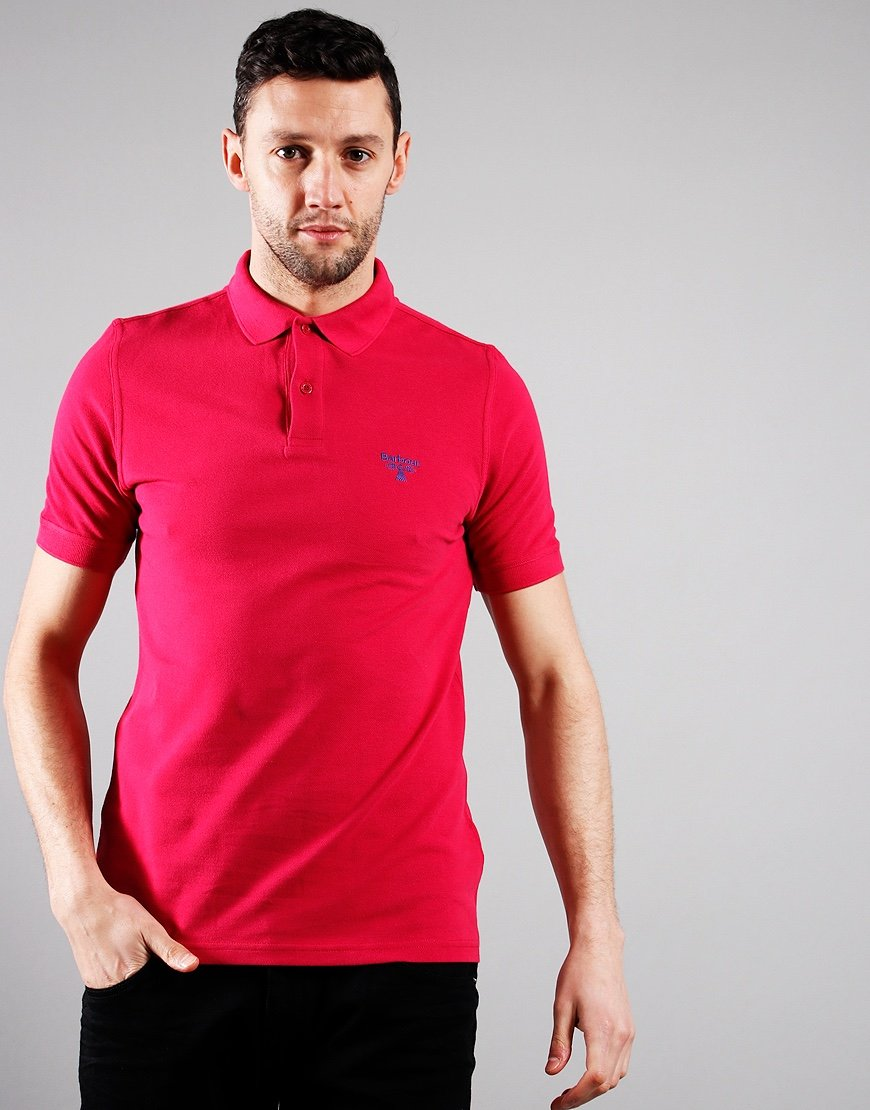 Barbour Beacon Polo Shirt Cerise