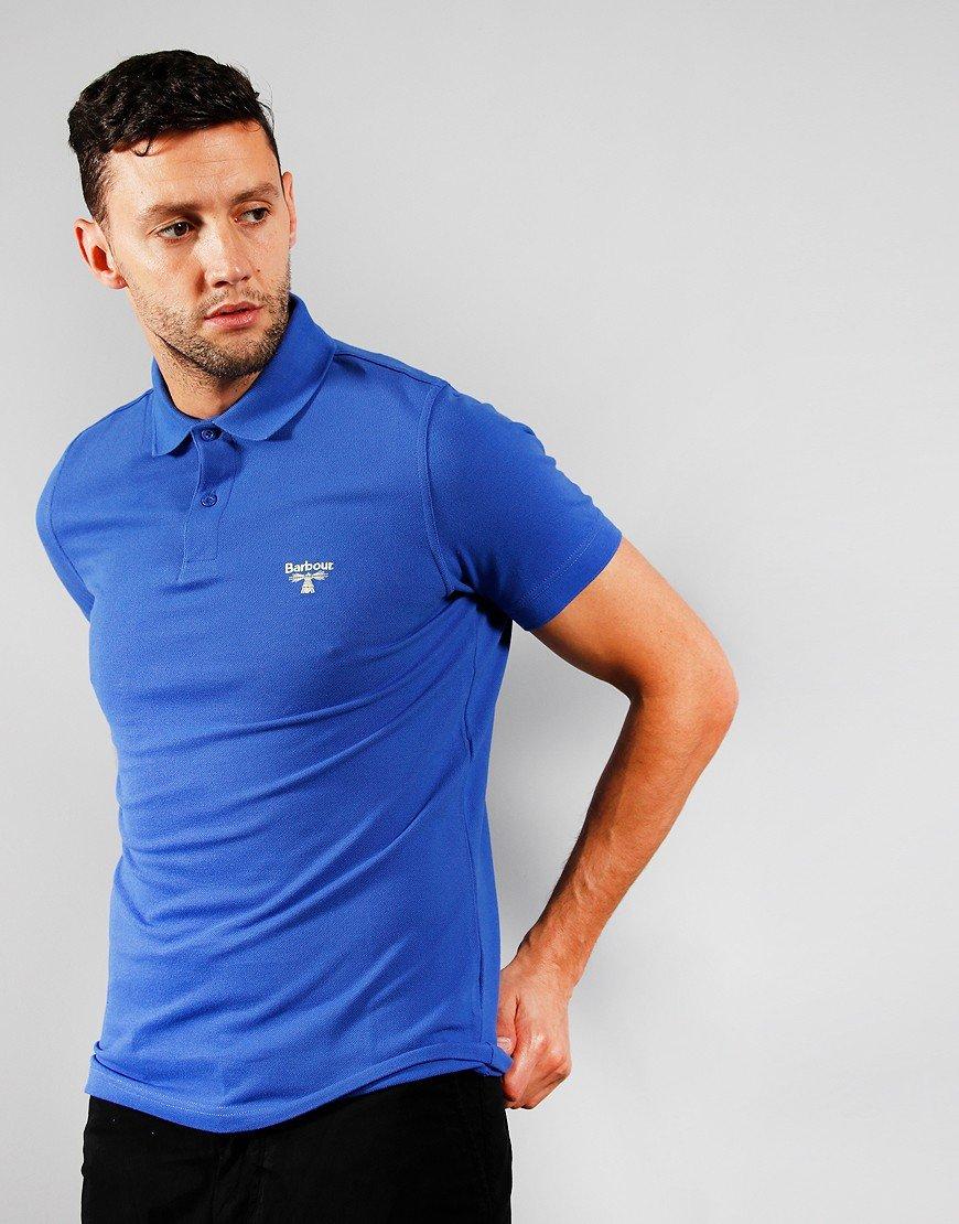 Barbour Beacon Polo Shirt Dazzling Blue