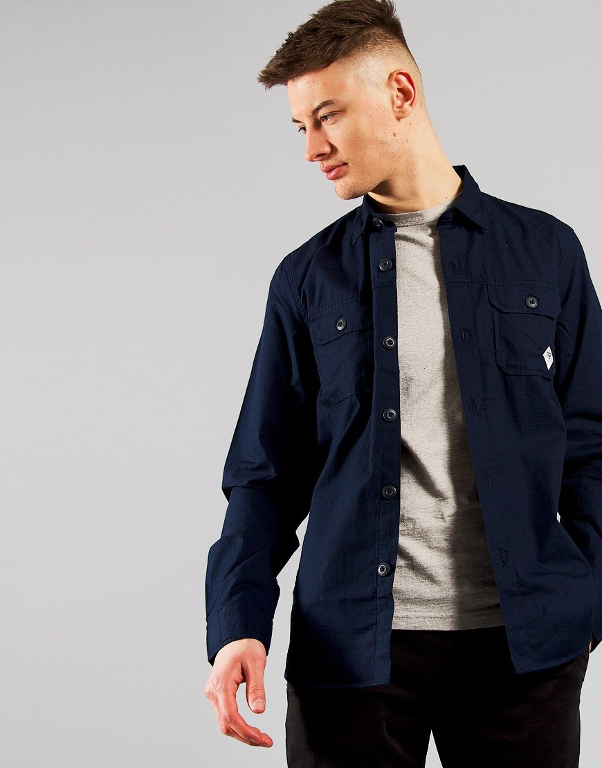 Barbour Beacon Ripstop Overshirt Navy
