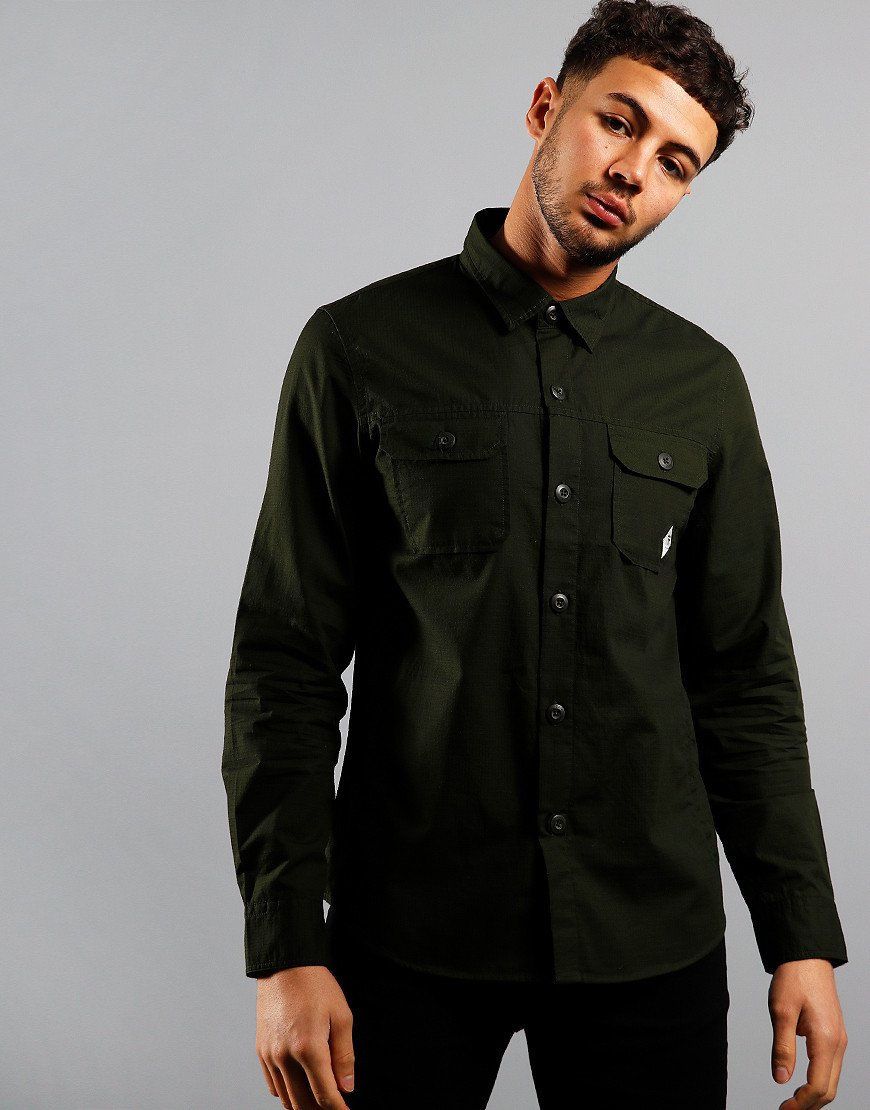 Barbour Beacon Ripstop Overshirt Forest