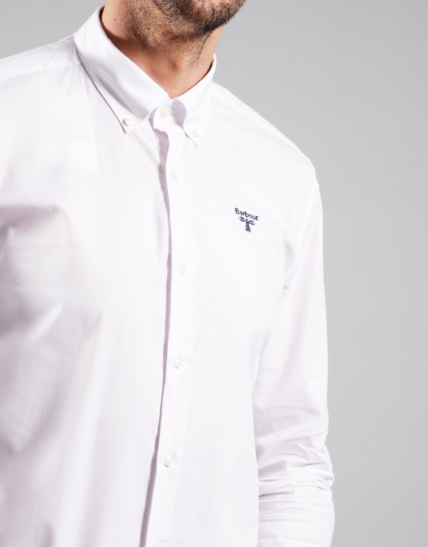 Barbour Beacon Seathwaite Long Sleeve Shirt White