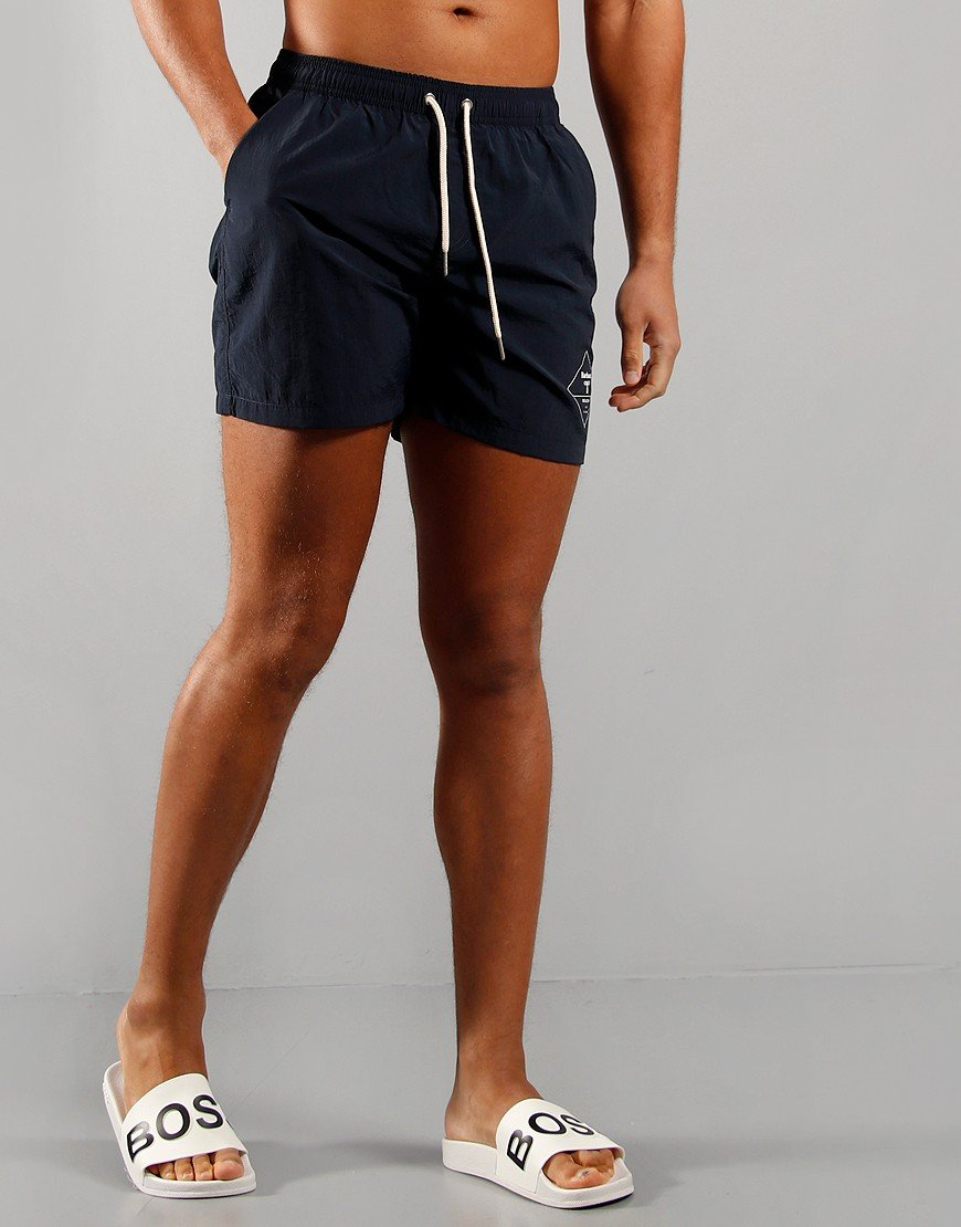 Barbour Beacon Logo Swim Shorts Navy