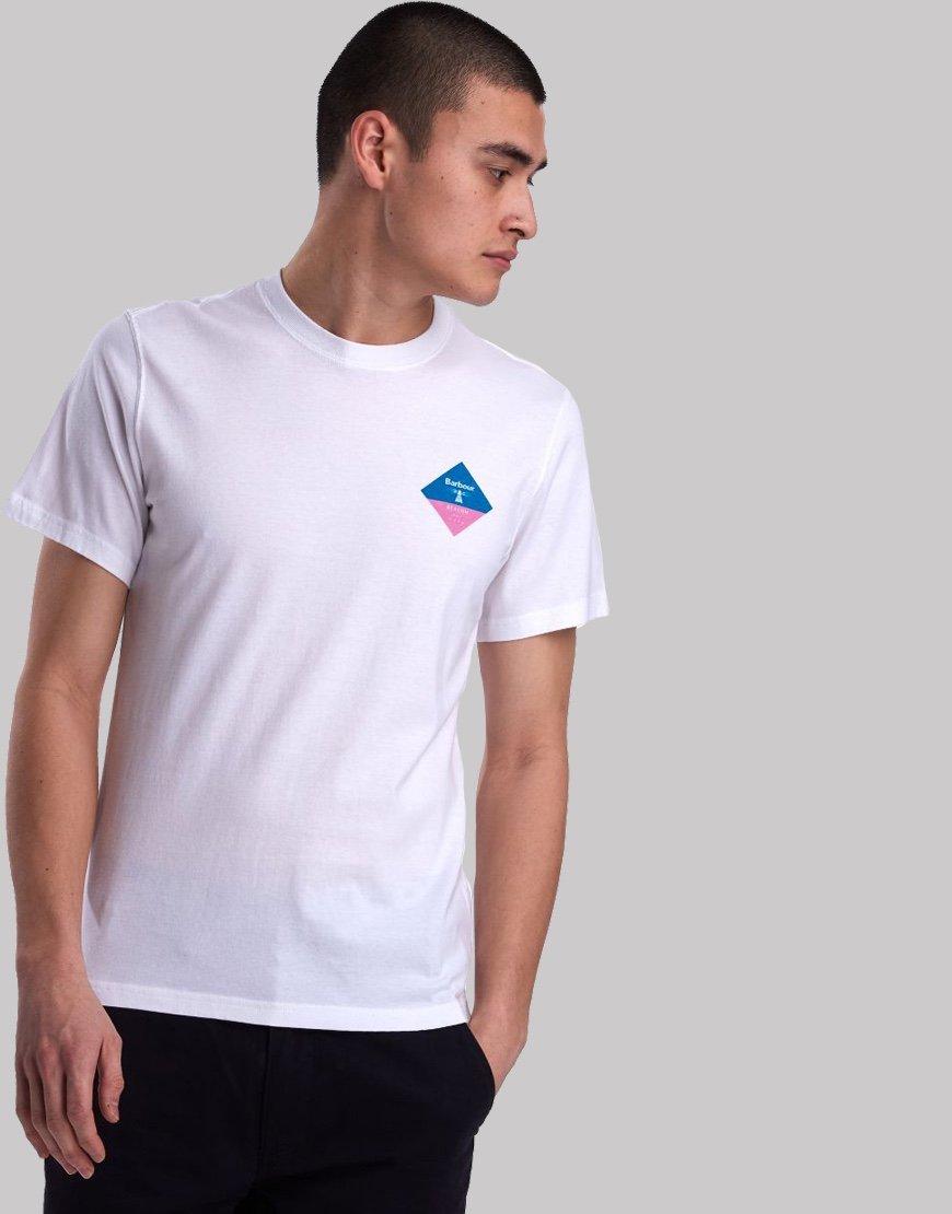 Barbour Beacon Small Diamond T-Shirt White