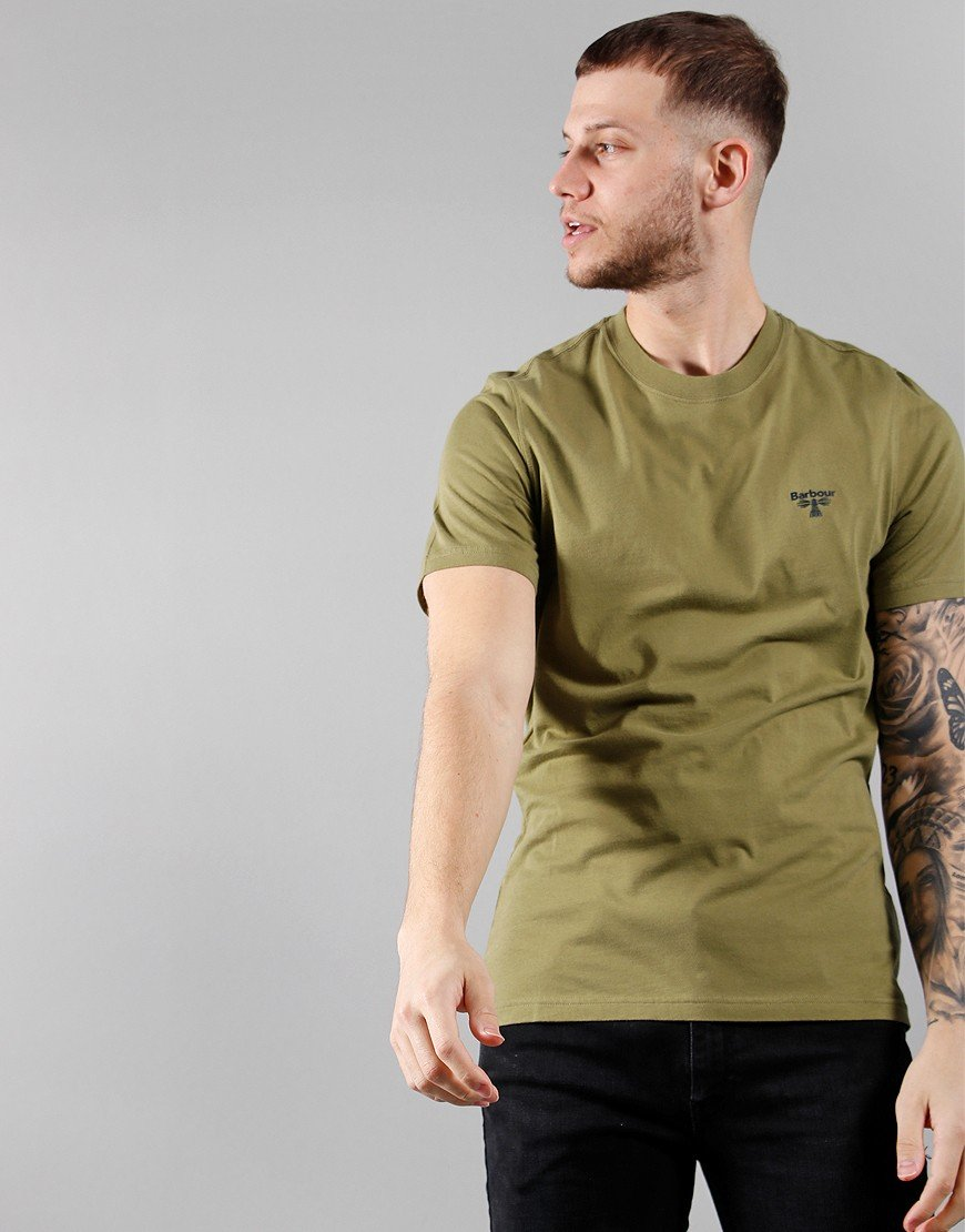 Barbour Beacon Small Logo T-Shirt Military Olive