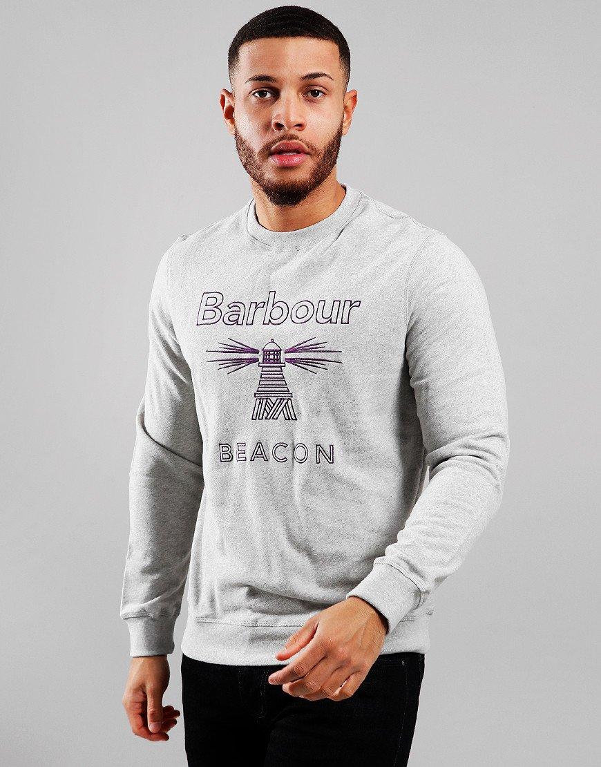 Barbour Beacon Stitch Crew Neck Sweat Grey