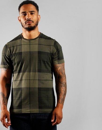 Barbour Beacon Tartan T-Shirt Forest
