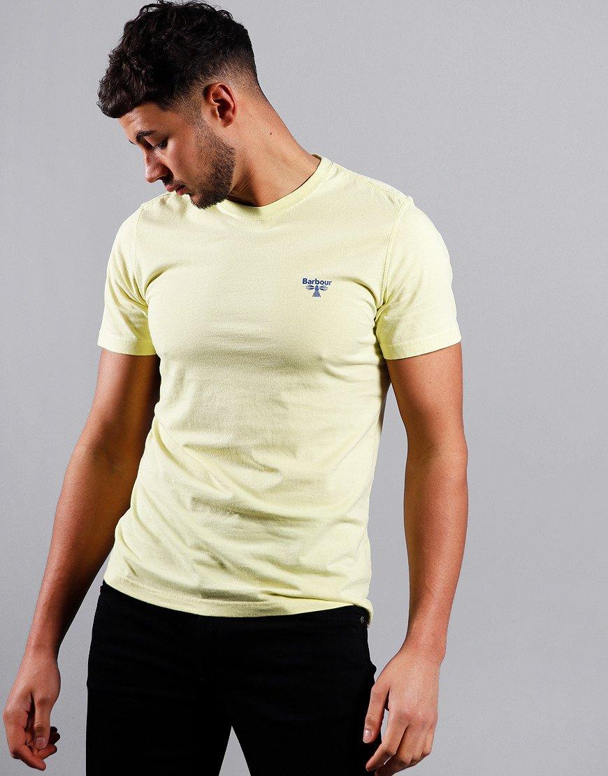 Barbour Beacon Logo T-Shirt Pale Lemon