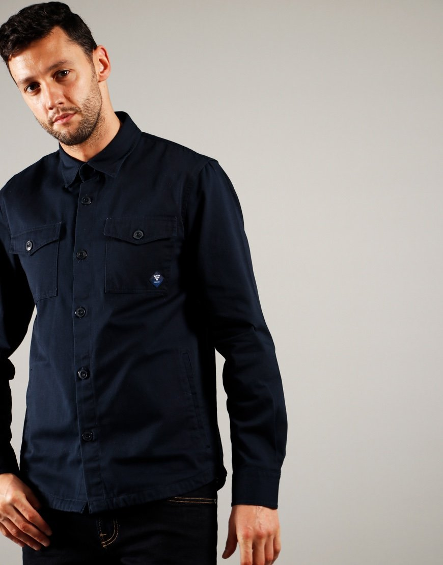 Barbour Beacon Twill Overshirt Navy