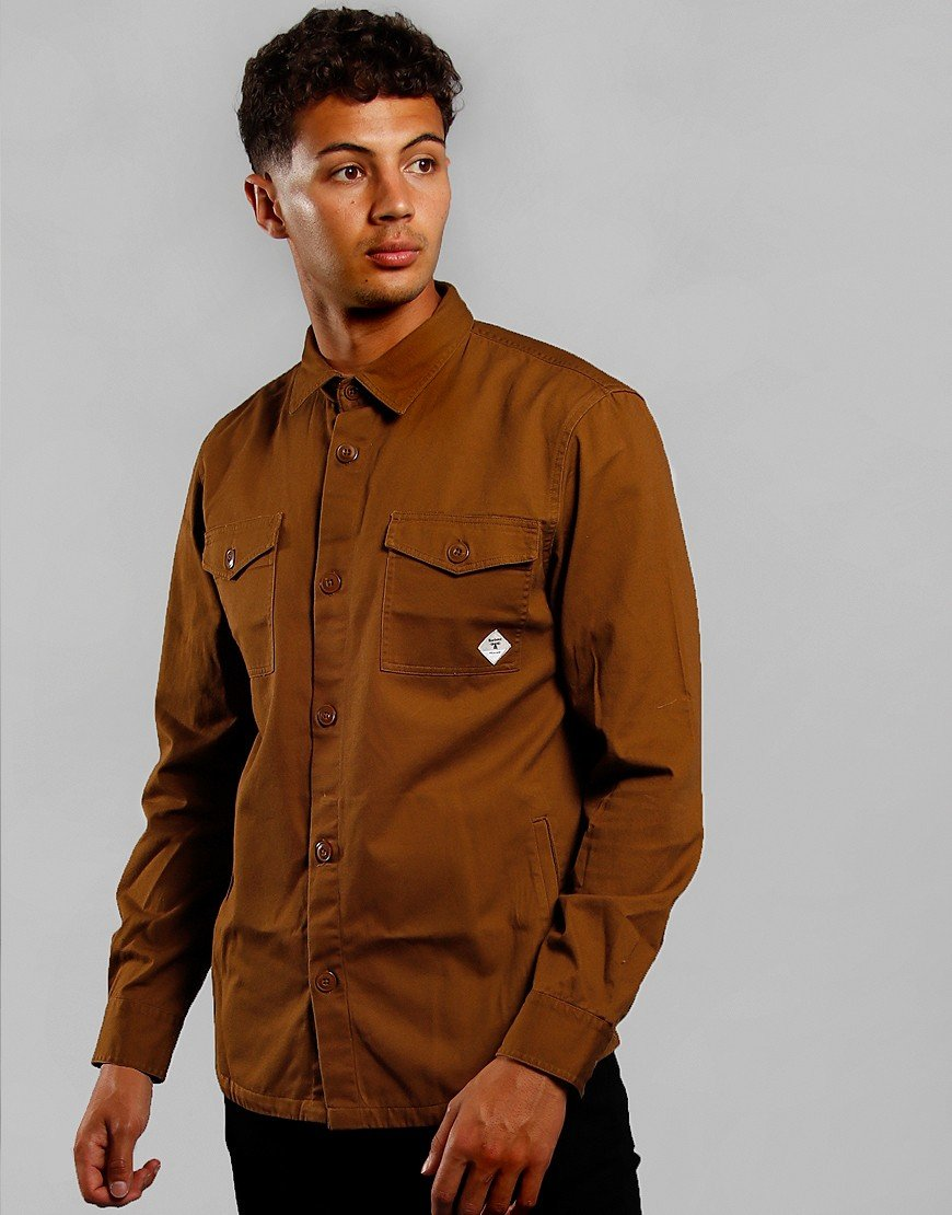 Barbour Beacon Twill Overshirt Camel