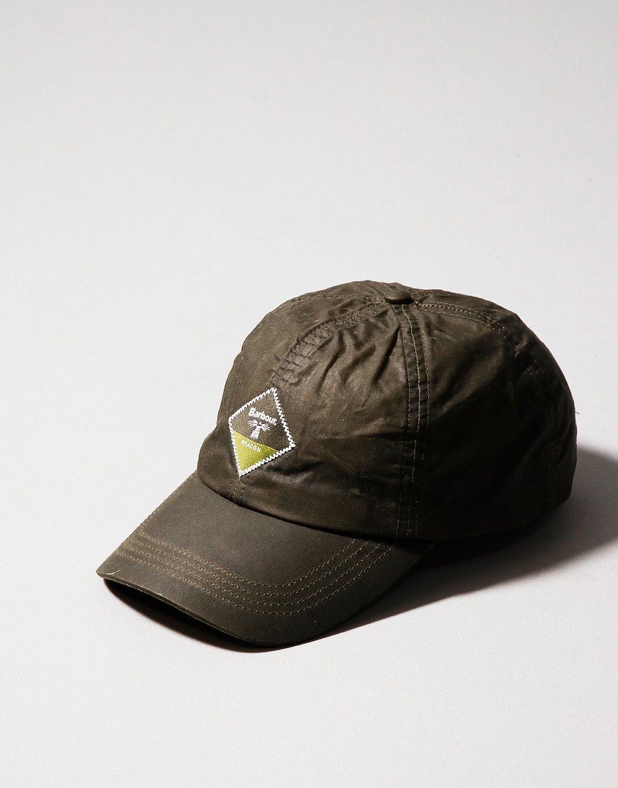 Barbour Beacon Wax Sports Cap Olive