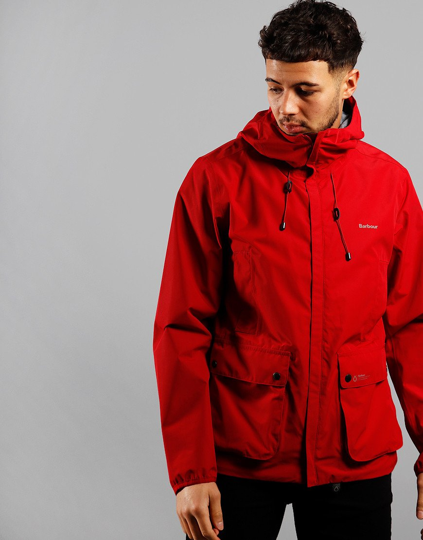 Barbour Bennett Waterproof Jacket Chilli Red
