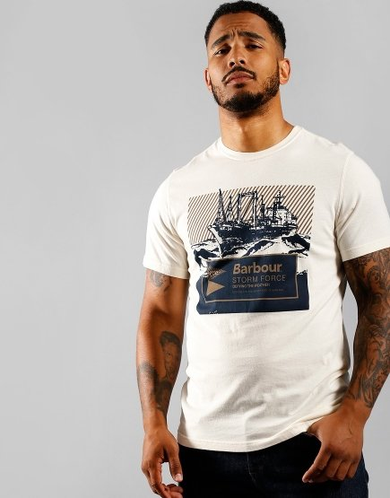 Barbour Benson T-Shirt Egret