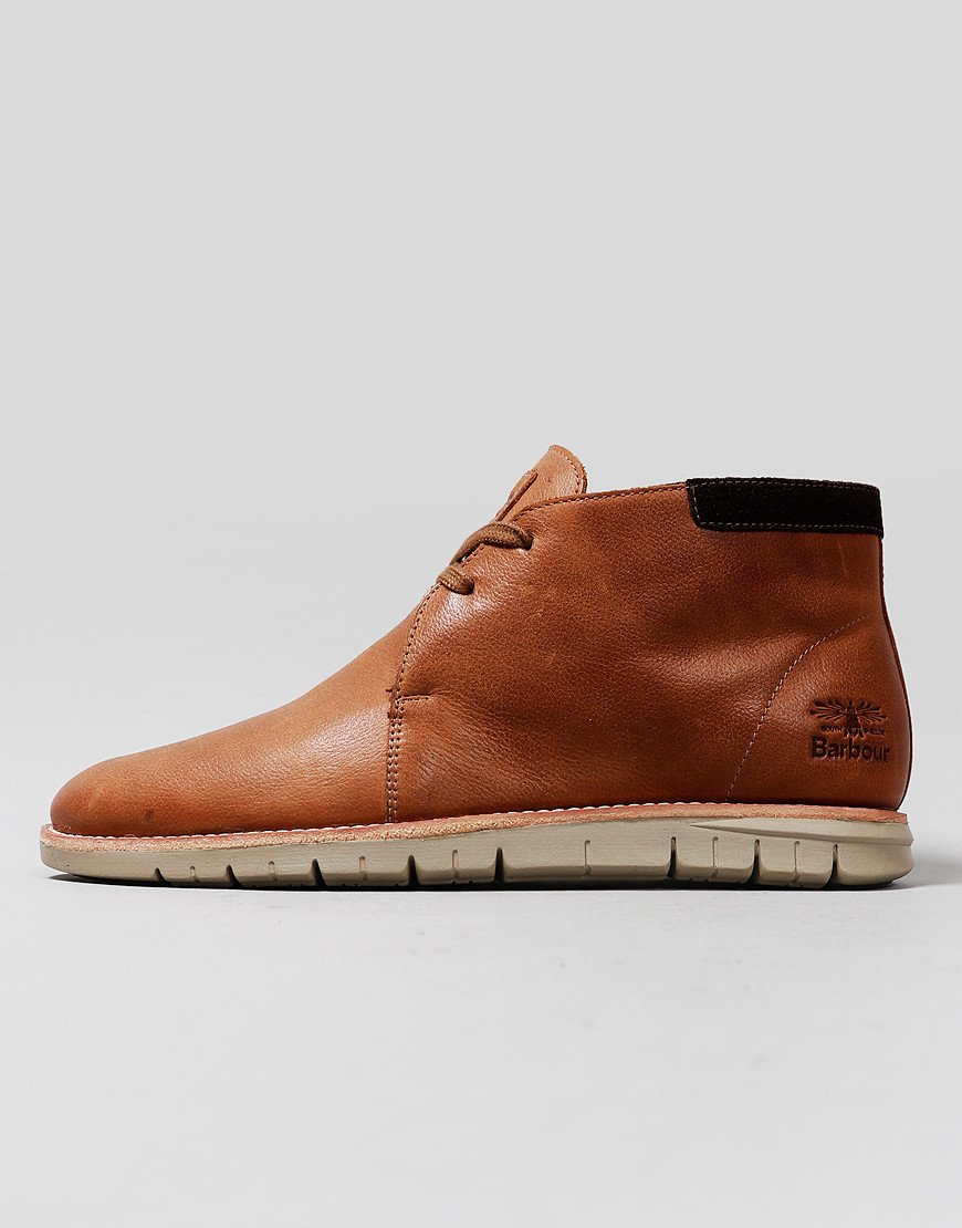 Barbour Boughton Chukka Boots Cognac