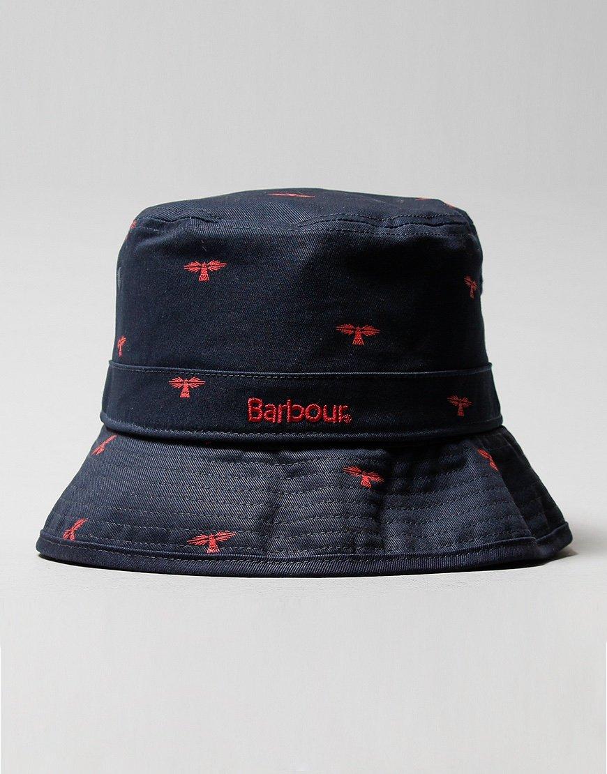 Barbour Burnham Bucket Hat Navy