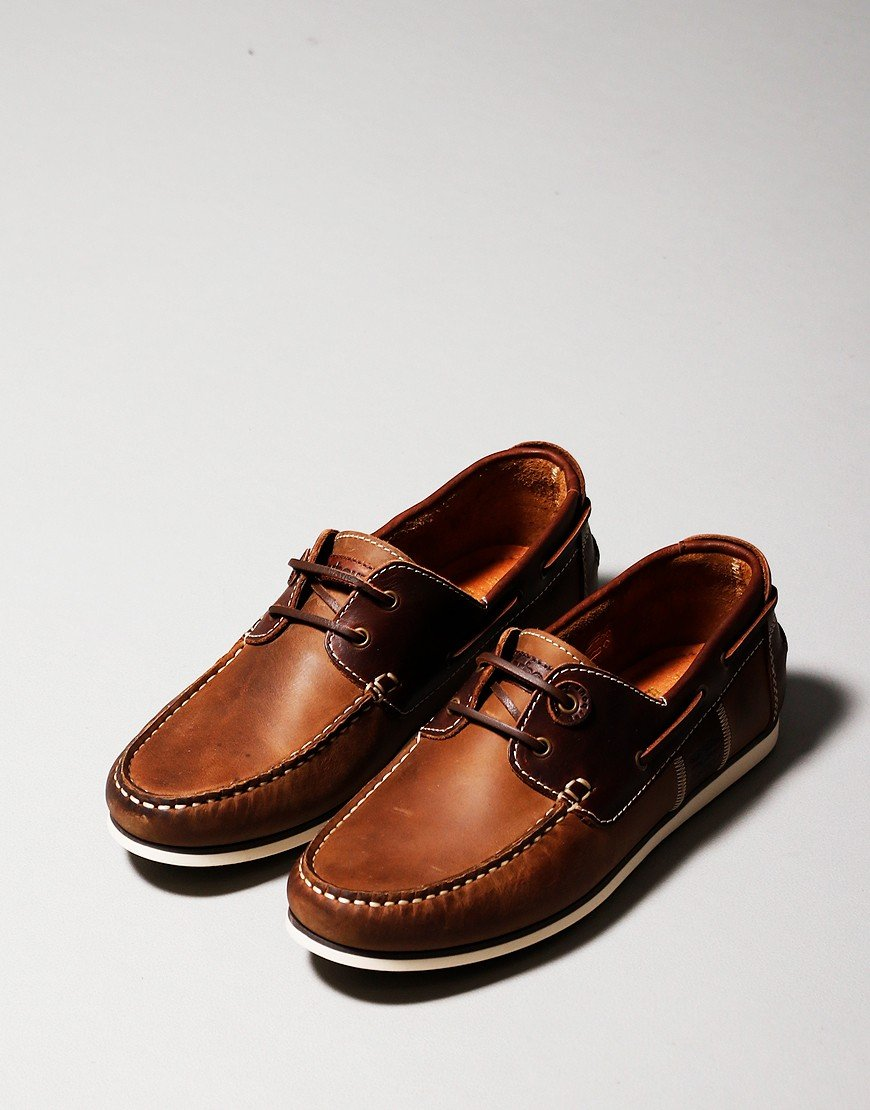 Barbour Capstan Boat Shoe Beige Brown