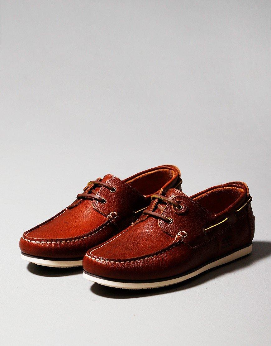 Barbour Capstan Boat Shoe Cognac