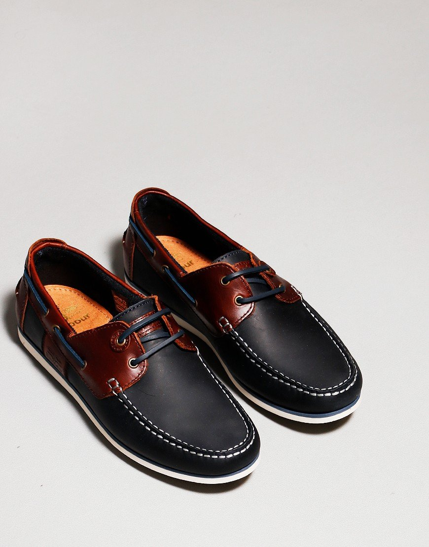 Barbour Capstan Boat Shoe Navy/Brown