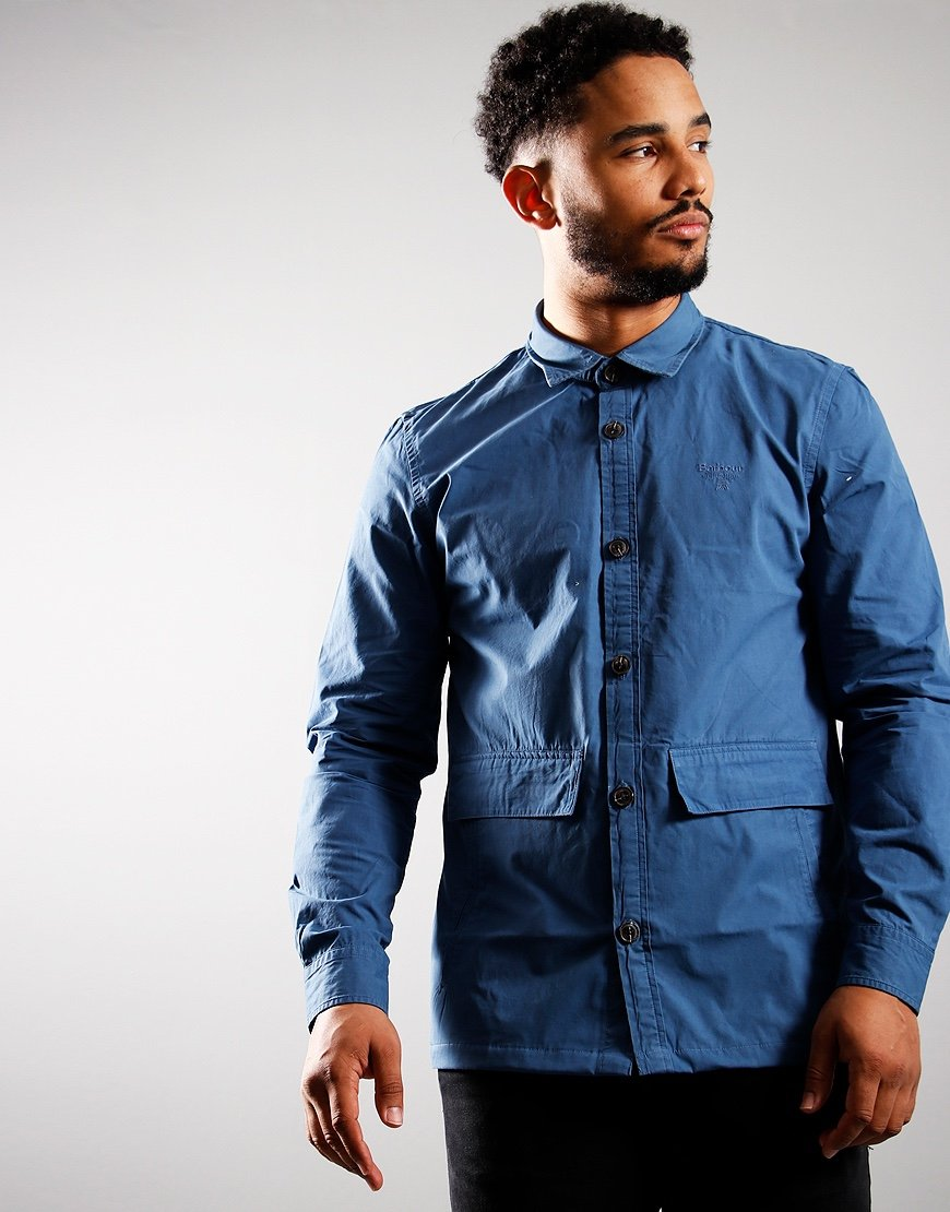 Barbour Beacon Castle Overshirt Mid Blue