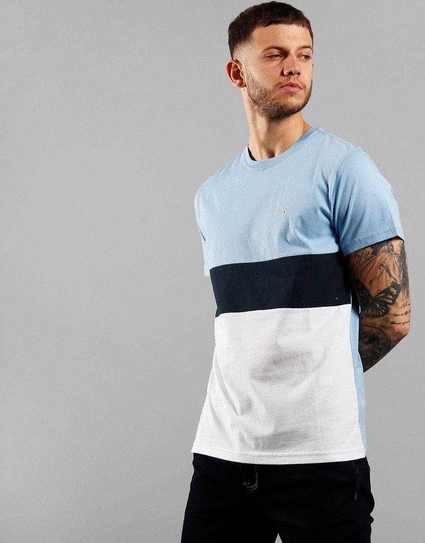 Barbour Castle Panel T-Shirt Colorado Blue