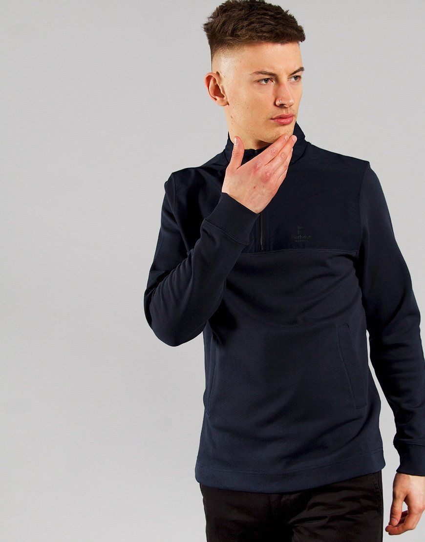 Barbour Cetus Half Zip Sweat Navy