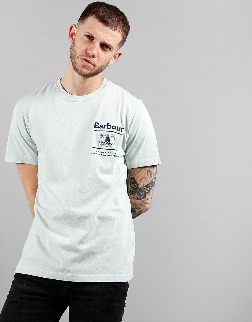 Barbour Channory Print T-Shirt Surf Spray