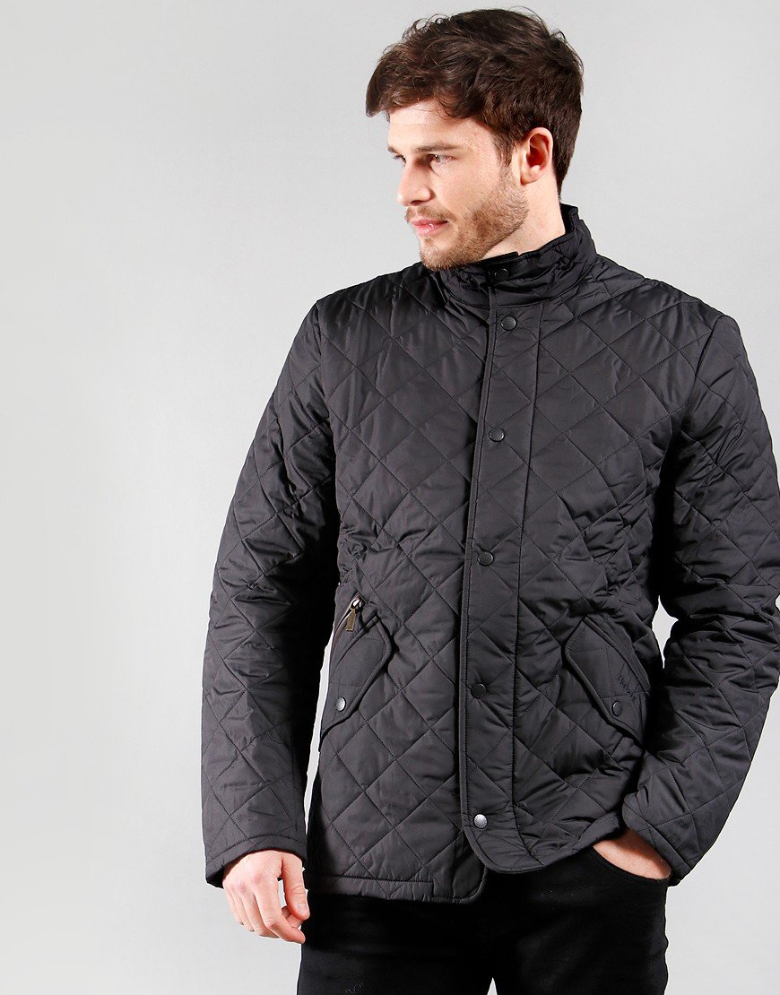 Barbour Chelsea Quilted Jacket Black