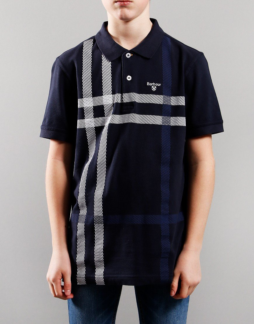 Barbour Children Blaine Polo Shirt Navy