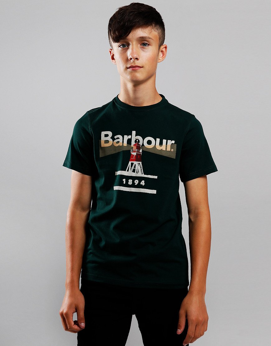 Barbour Children Lighthouse T-Shirt Seaweed
