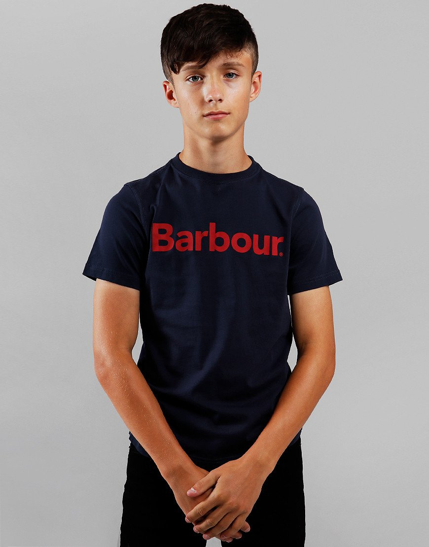 Barbour Children Logo T-Shirt Navy