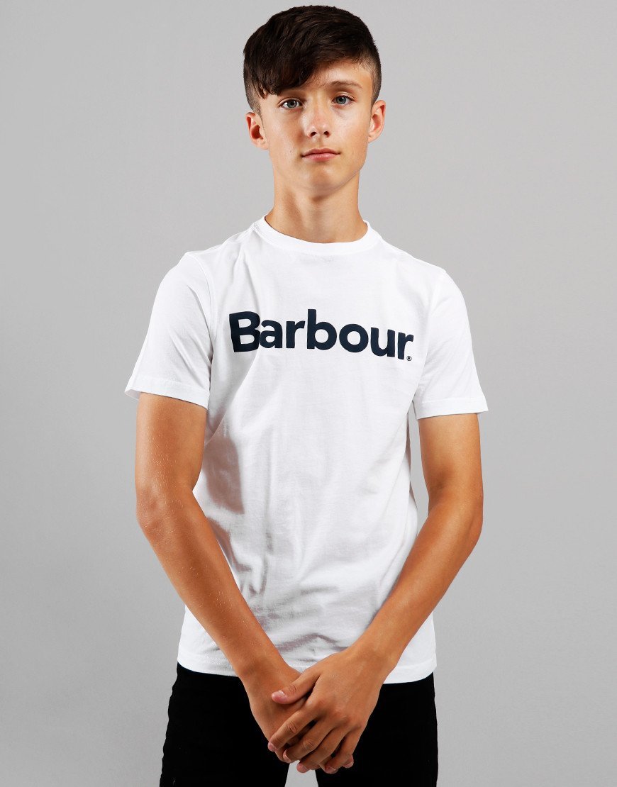 Barbour Children Logo T-Shirt White