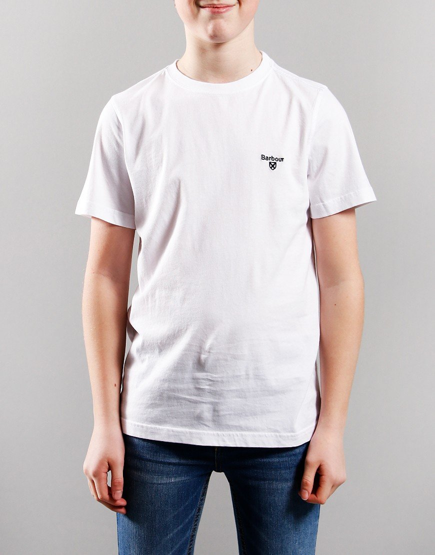 Barbour Children Small Logo T-Shirt White