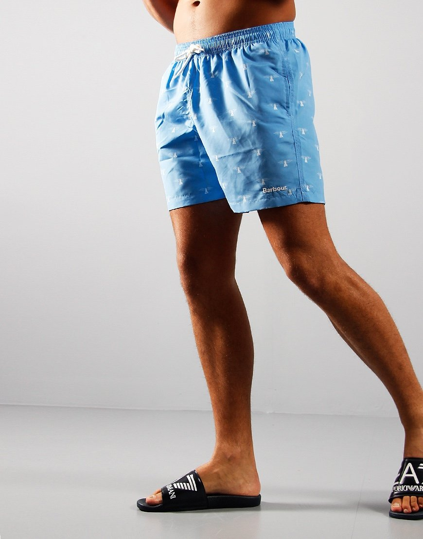 Barbour Coastal Swim Shorts Light Blue