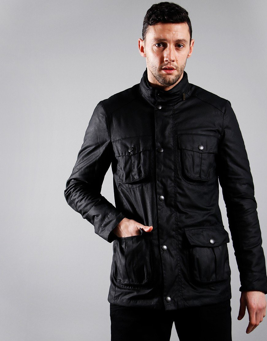 Barbour Corbridge Wax Jacket   Black